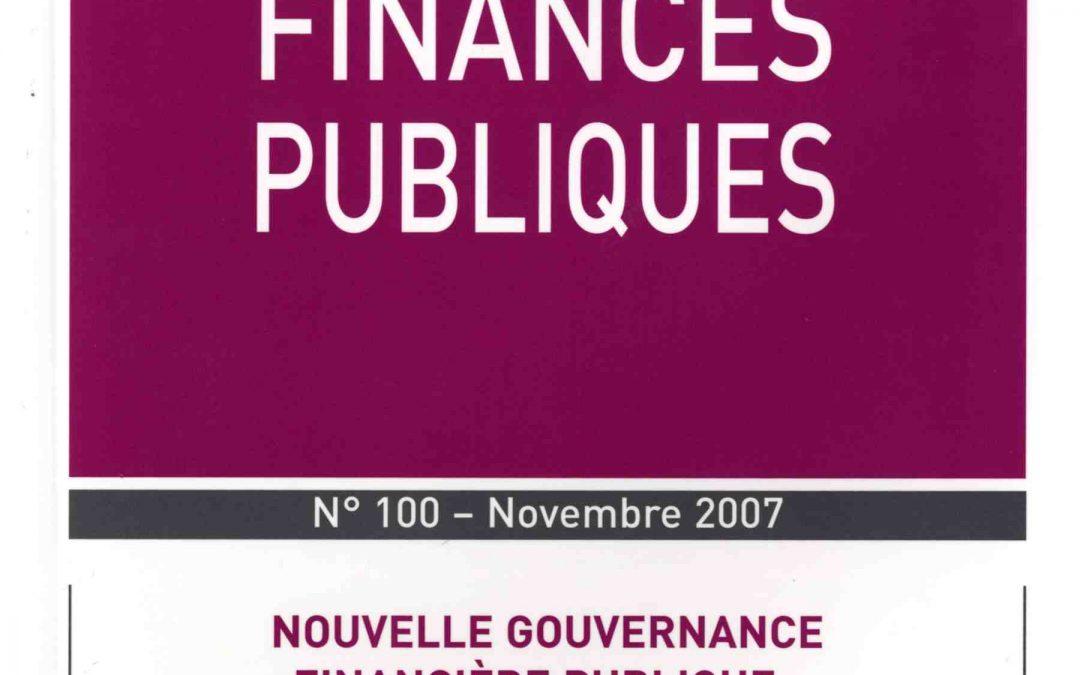 La certification des comptes de l'Etat : principes, enjeux et difficultés (2007)