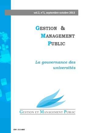Valeurs publiques et formations universitaires: le cas des masters en management public (2013)